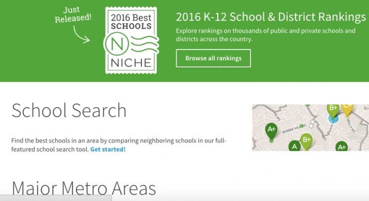 How did our area do?  Niche.com ranks the best schools in the nation for 2016.