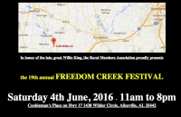 19th Annual Freedom Creek Blues Festival coming in June