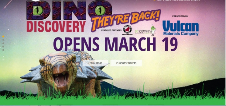Dinosaur Exhibit Now Open through July 31st at the Birmingham Zoo