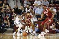 Crimson Tide basketball team begins SEC play with road win against MSU Bulldogs (via Crimson Magazine)